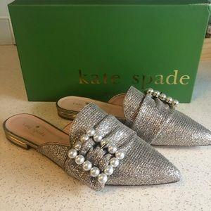 BNIB Kate Spade New York Broadway Mules in Gold
